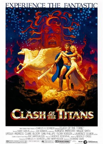 1980's Movie - CLASH OF THE TITANS - Portrait 1 canvas print - self adhesive poster - photo print